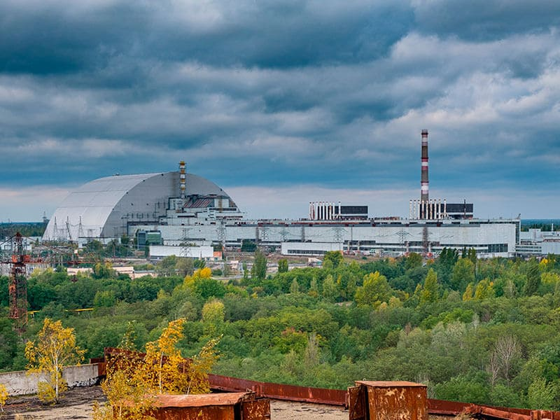 Exclusion zone of Chernobyl nuclear power plant